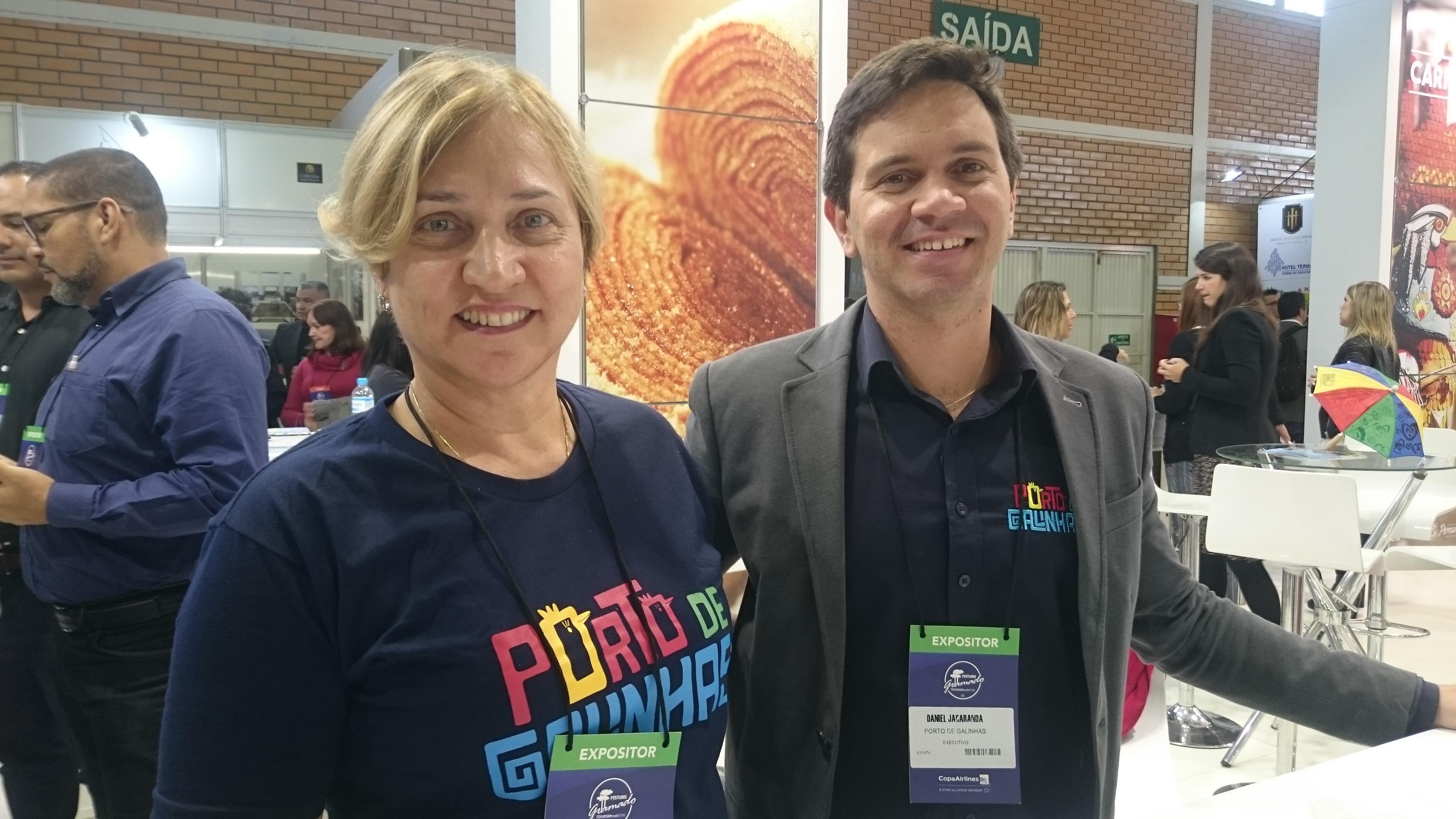 Sandra Alecrim e Daniel Jacarandá, de Porto de Galinhas