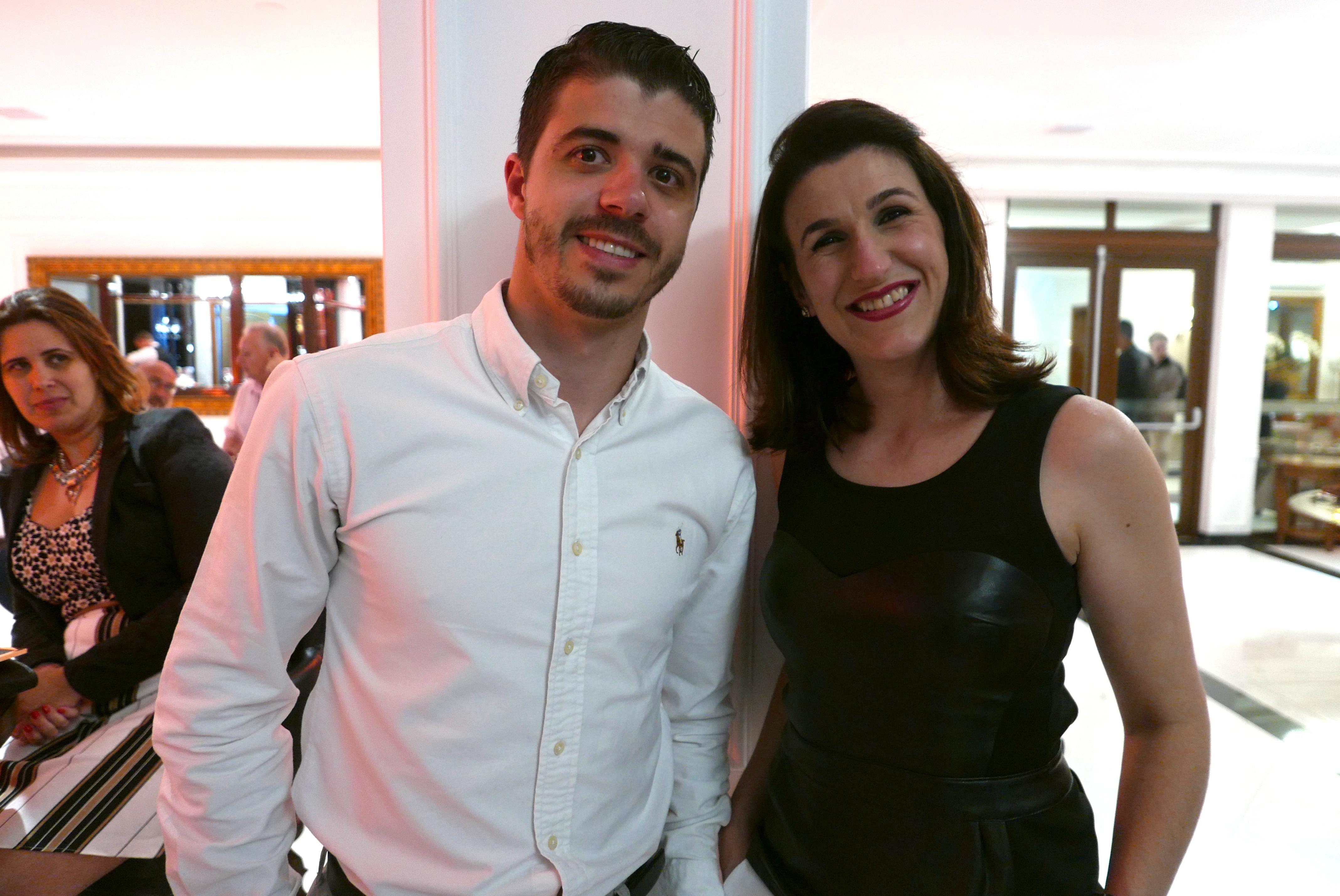 Brian Moura, da Liga Eventos, e Maria Fernanda Cavallin, da Brocker Turismo