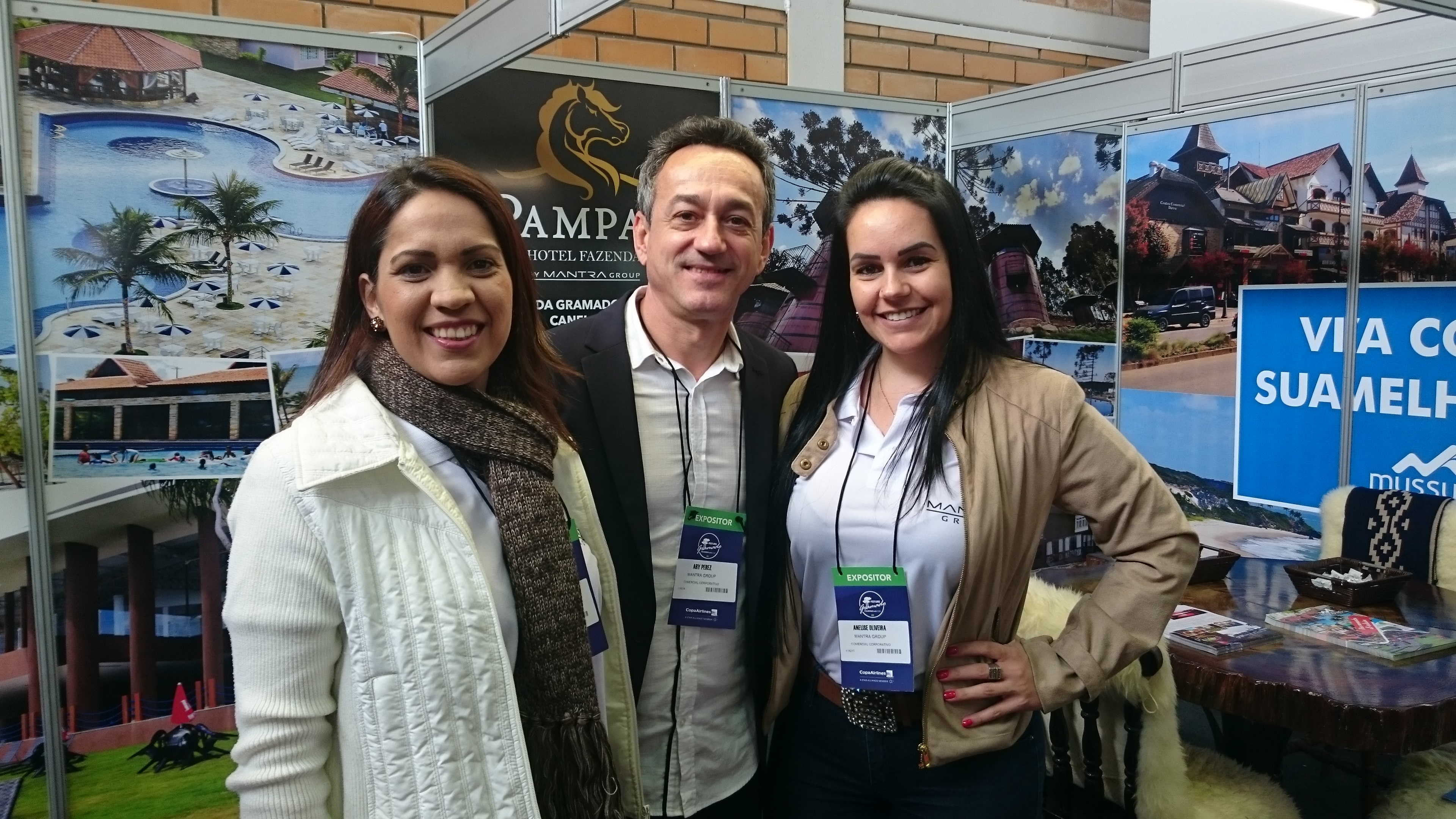 Waléria Agripino, Ary Perez e Anelise Oliveira, do Mantra Group