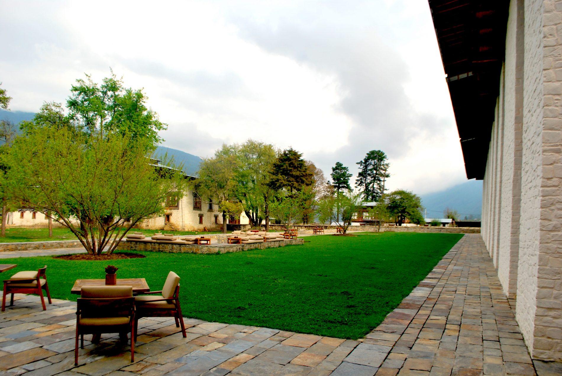 Ambiente externo do Amankora Bhumtang