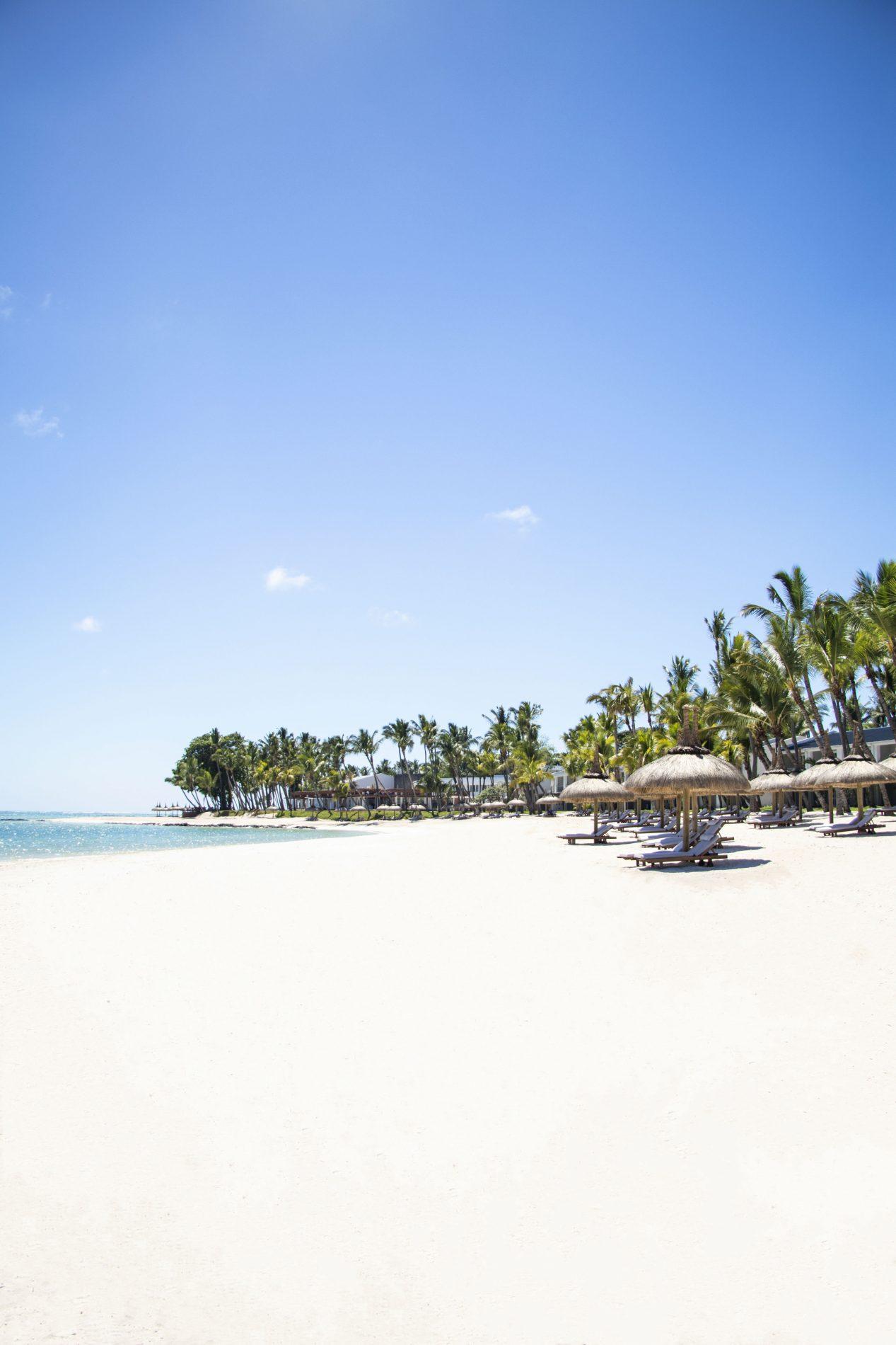 Cenário paradisíaco do litoral do One & Only, nas Ilhas Maurício