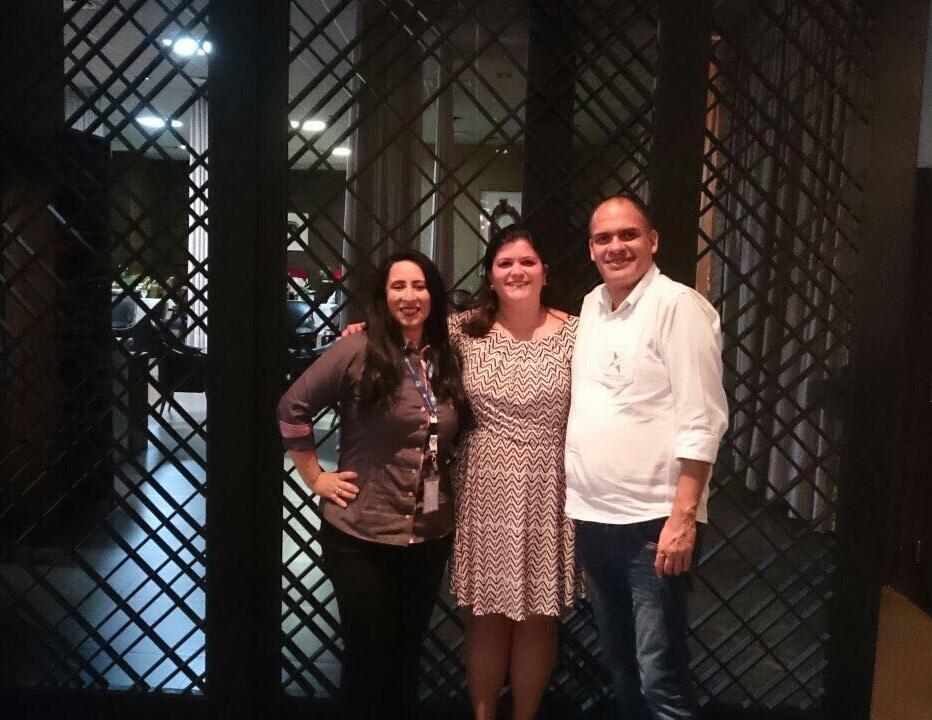 Marisa Zamboni (centro), Diretora Brasil da Palace Resorts, com os parceiros da Copa Airlines e Travel Planner Operadora, em recente visita a Campo Grande e Cuiabá (Fotos: DIvulgação)
