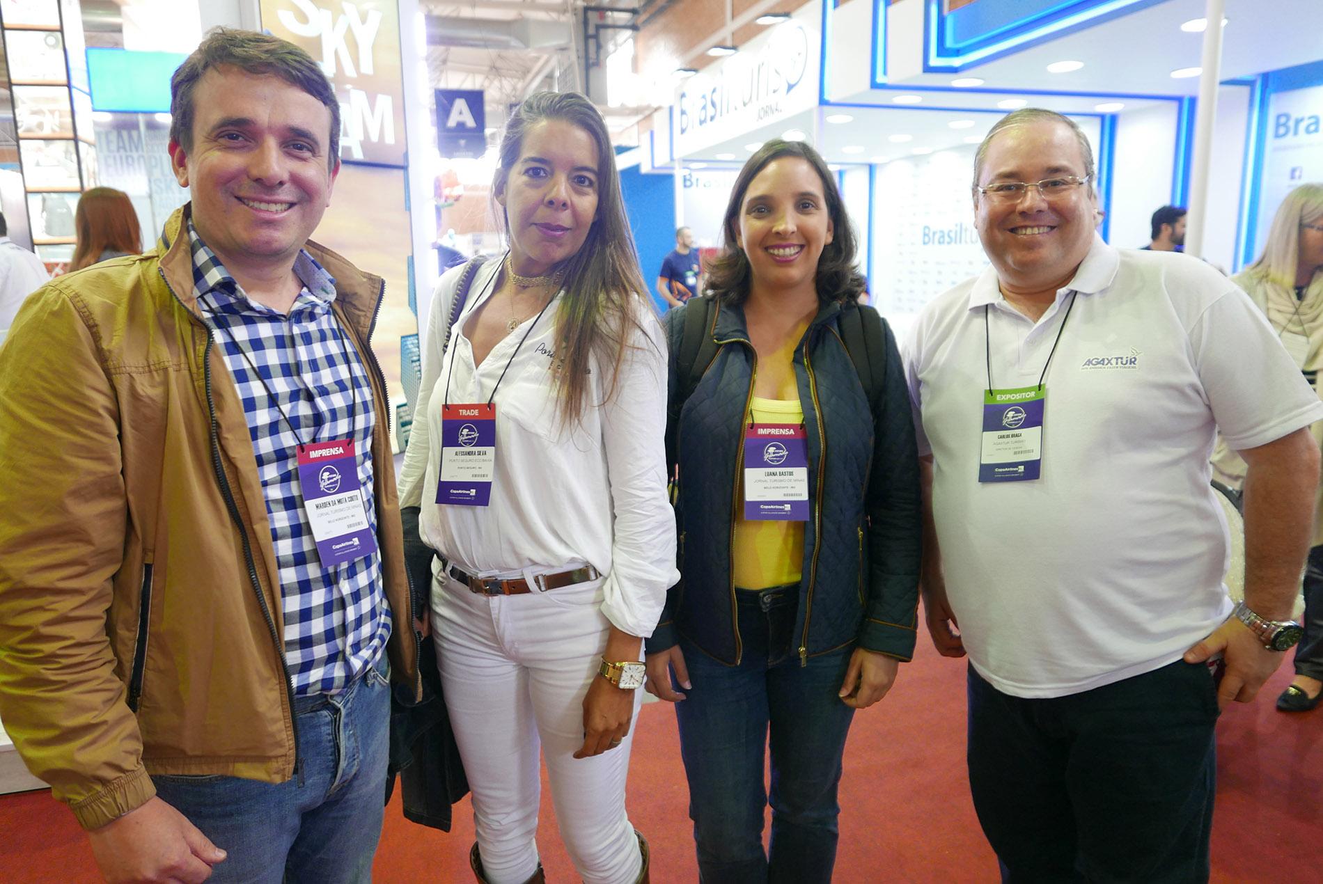 Marden Couto, Alessandra Quaresma, do Porto Seguro Eco, Luana Bastos, e Carlos Braga, da Agaxtur