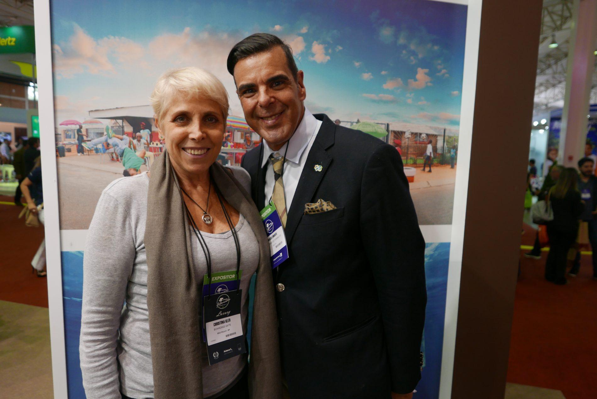 Christina Kler, da Boarding Gate e Marco Lomanto, do Ministério do Turismo