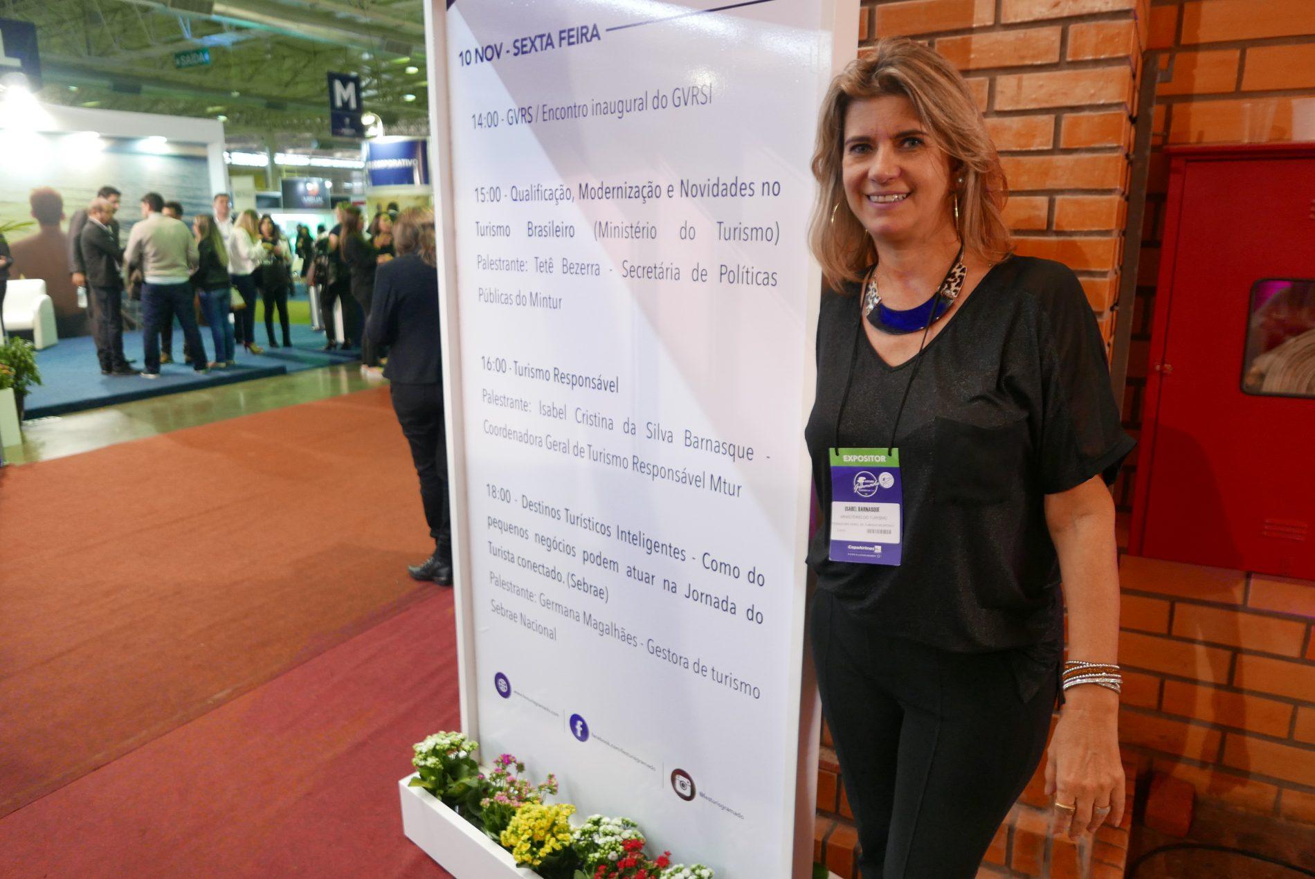 Isabel Barnasque, do Ministério do Turismo