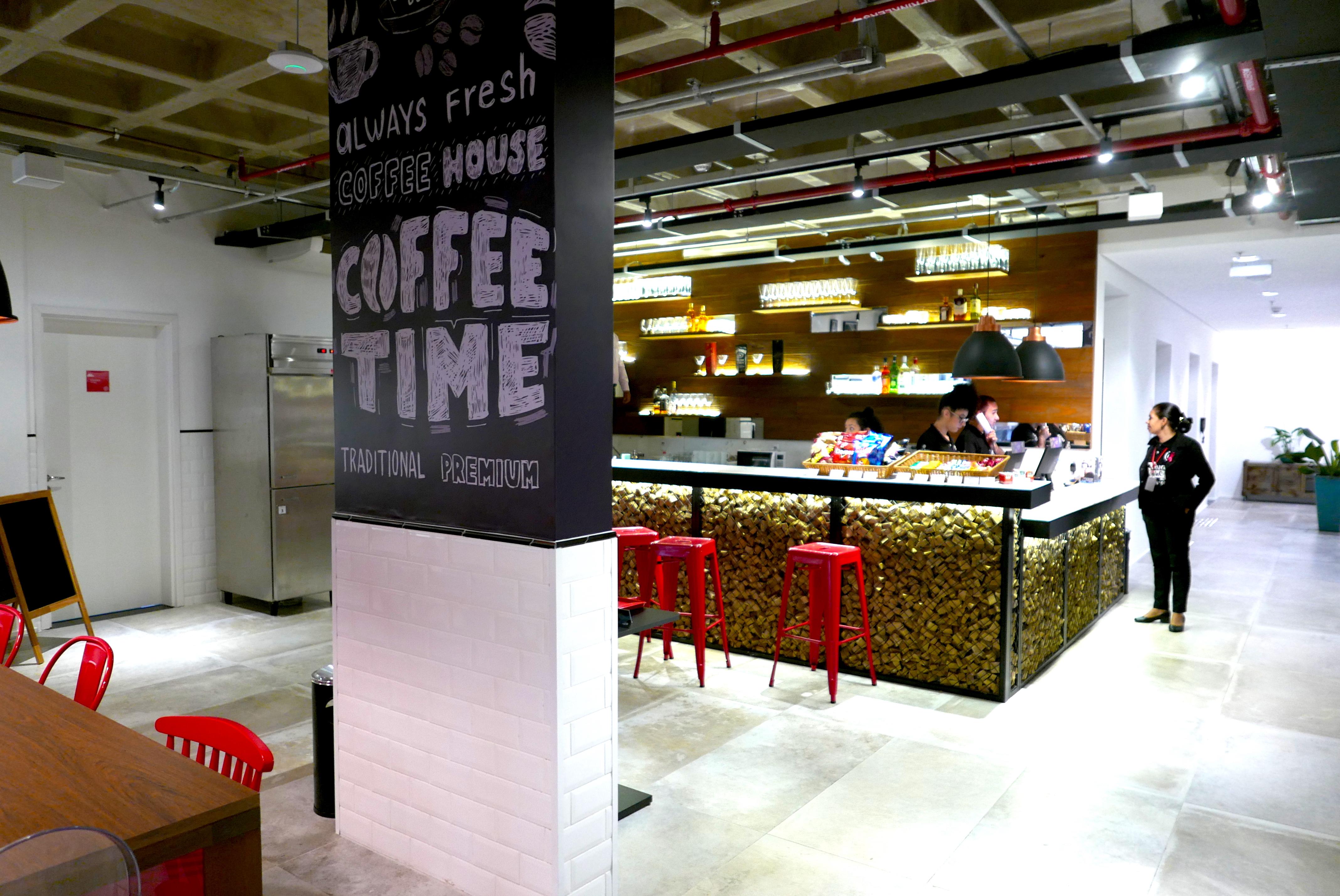 The Hub é o lobby com ares de cafeteria descolada