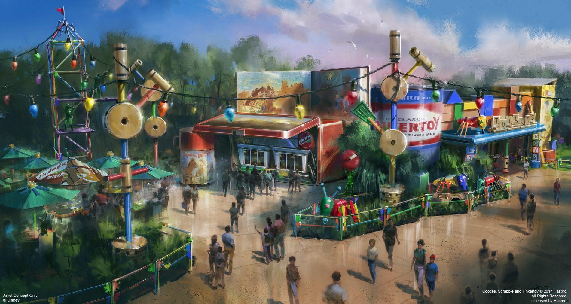 Detalhe da infraestrutura e ambientação da nova atração do Hollywood Studios