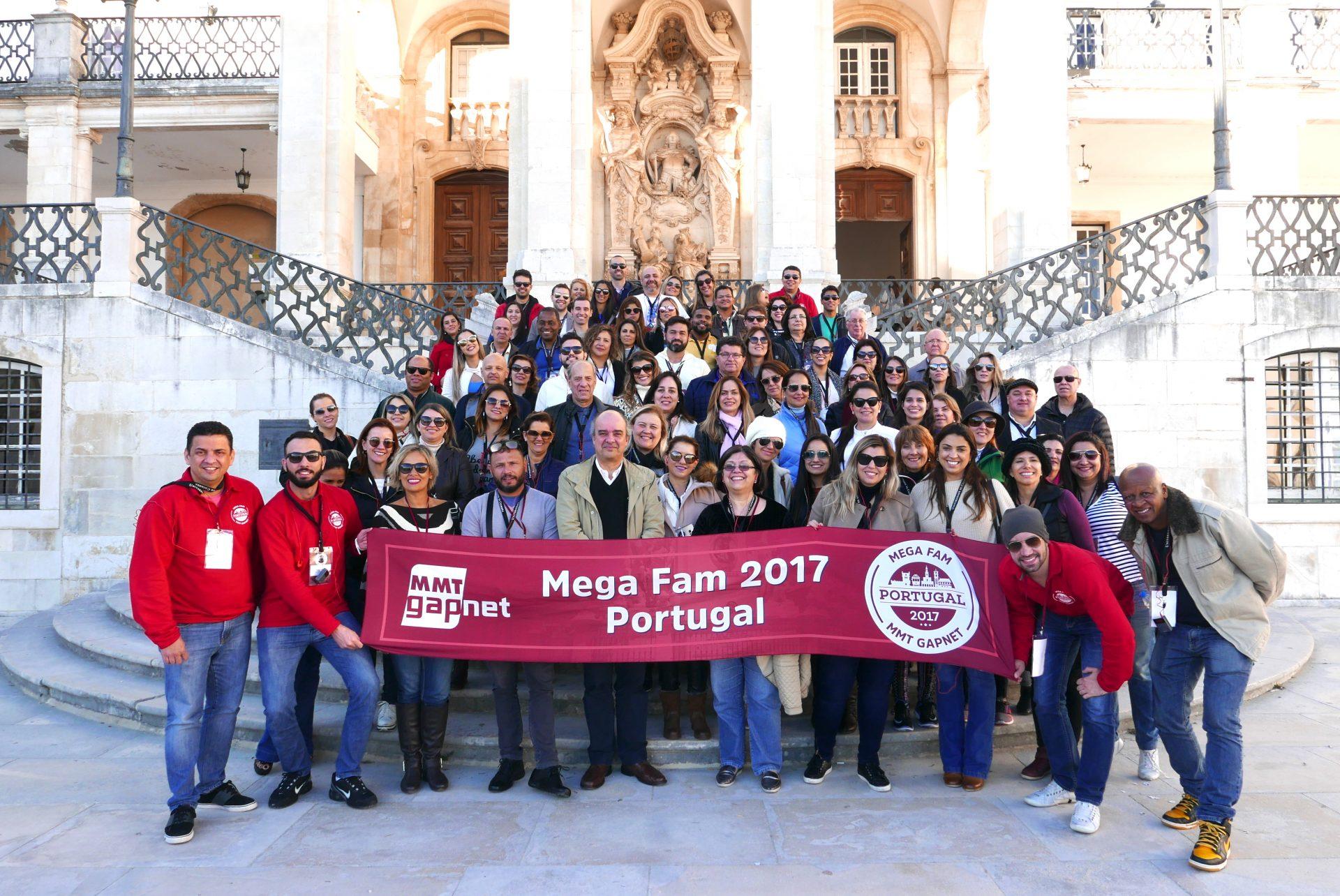 A foto oficial do Megafam MMTGapnet na Universidade de Coimbra