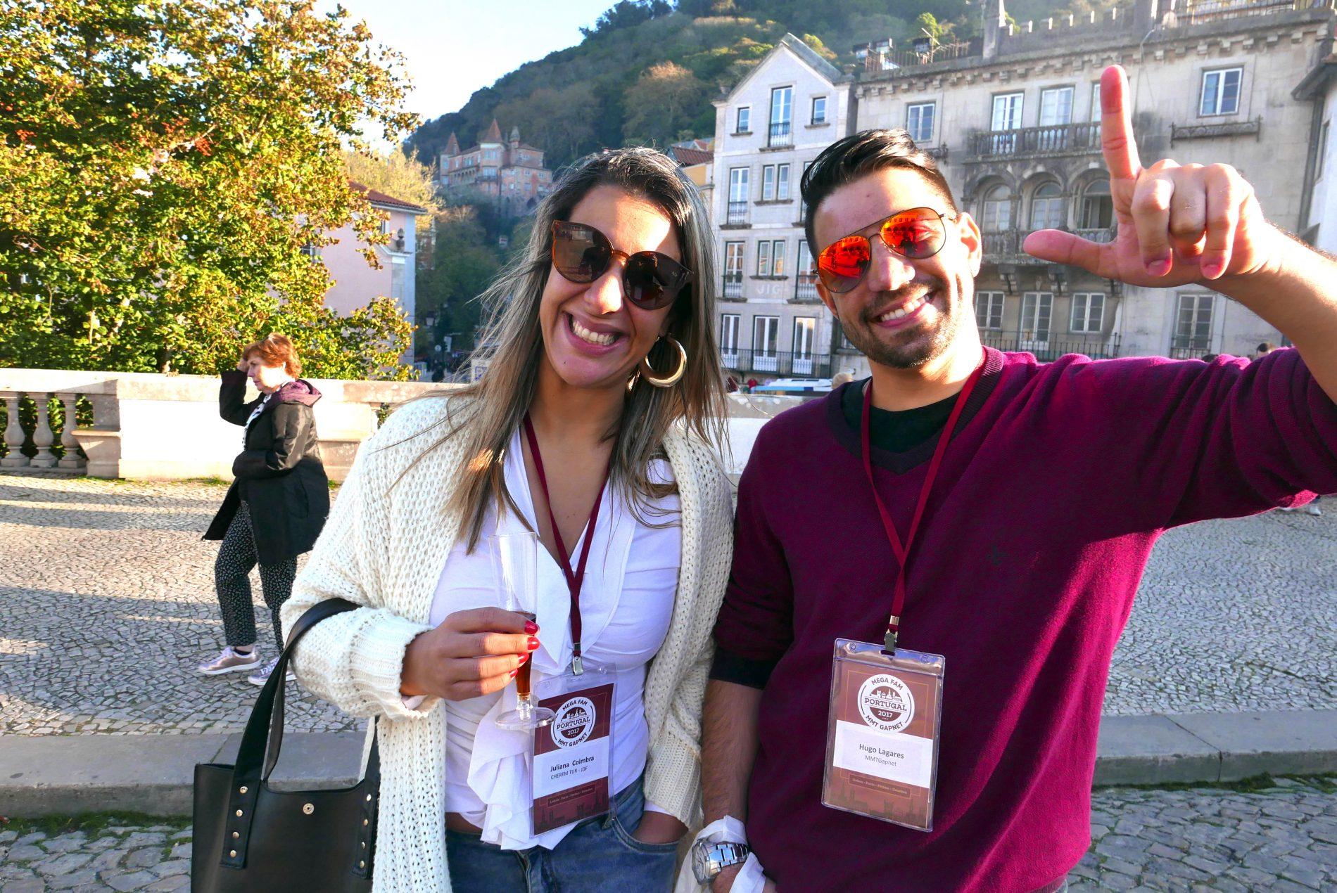 Juliana Coimbra, da Cherem Tur, de Juiz de Fora, e Hugo Lagares