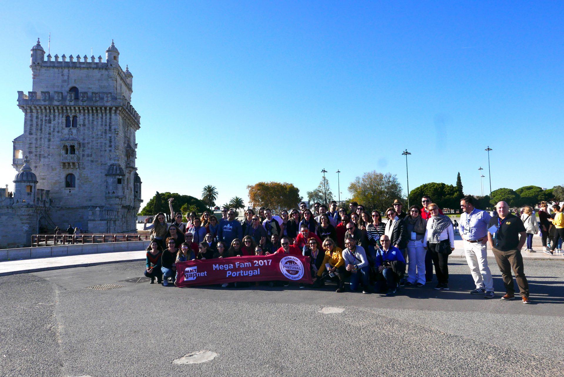 A Torre de Belém foi um dos vários sítios históricos visitados na capital portuguesa