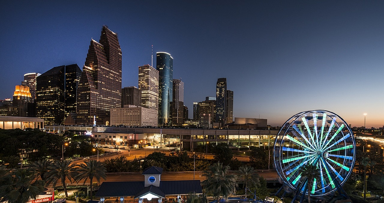 O belo skyline de Houston, no Texas