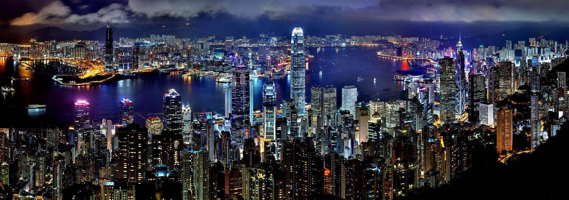 O magnífico skyline de Hong Kong