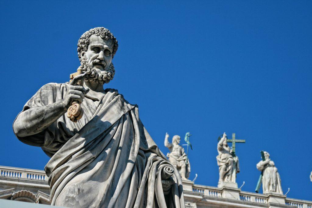 Detalhe das esculturas do Vaticano