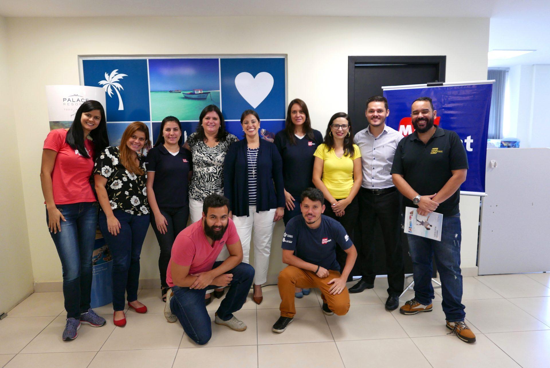 Marisa e Camila com a equipe da MMTGapnet de Belo Horizonte
