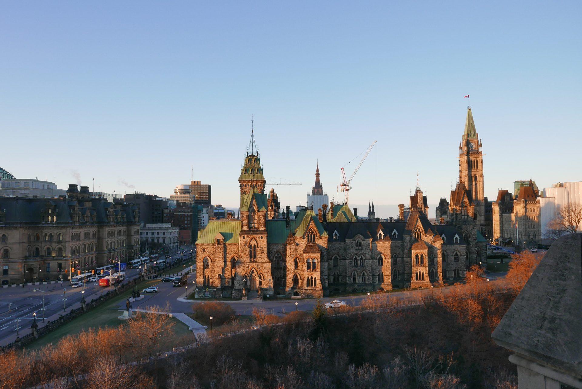 O Parlamento de Ottawa, capital do Canadá