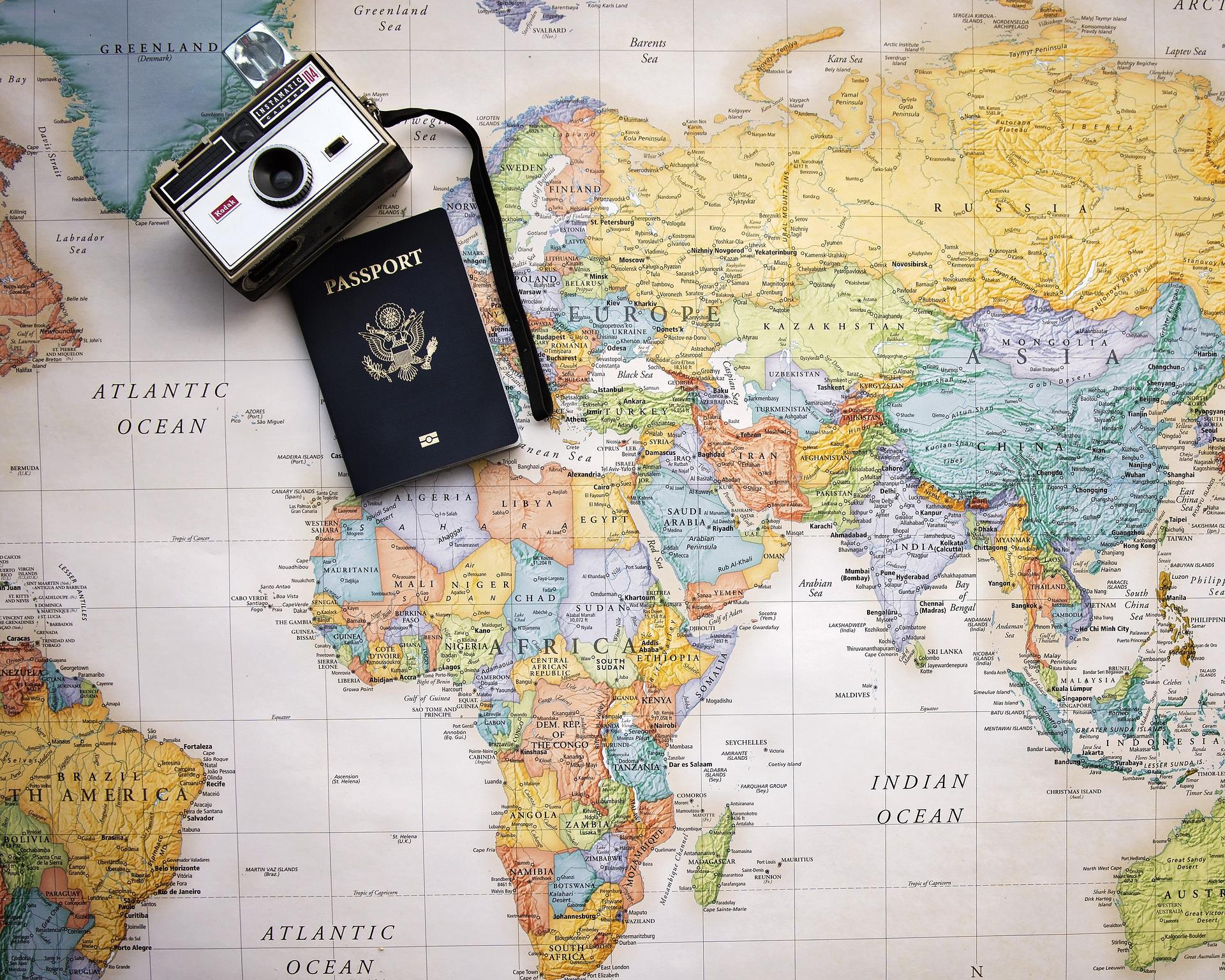 Passaporte Mapa Mundi