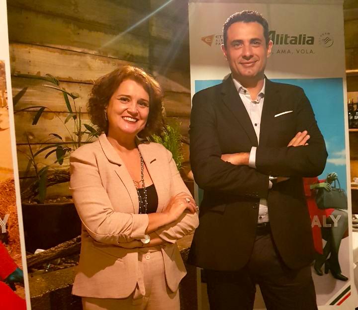 Rose Belli e Carlos Antunes, Alitalia Brasil