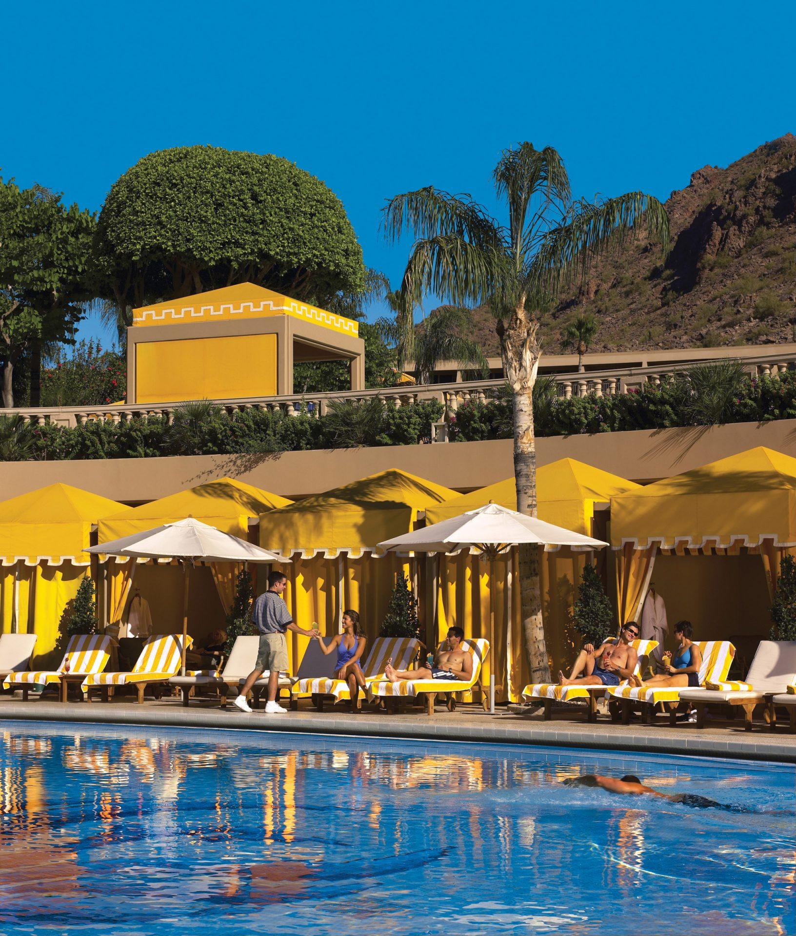 Piscina do resort que está próximo à cidade de Scottsdale