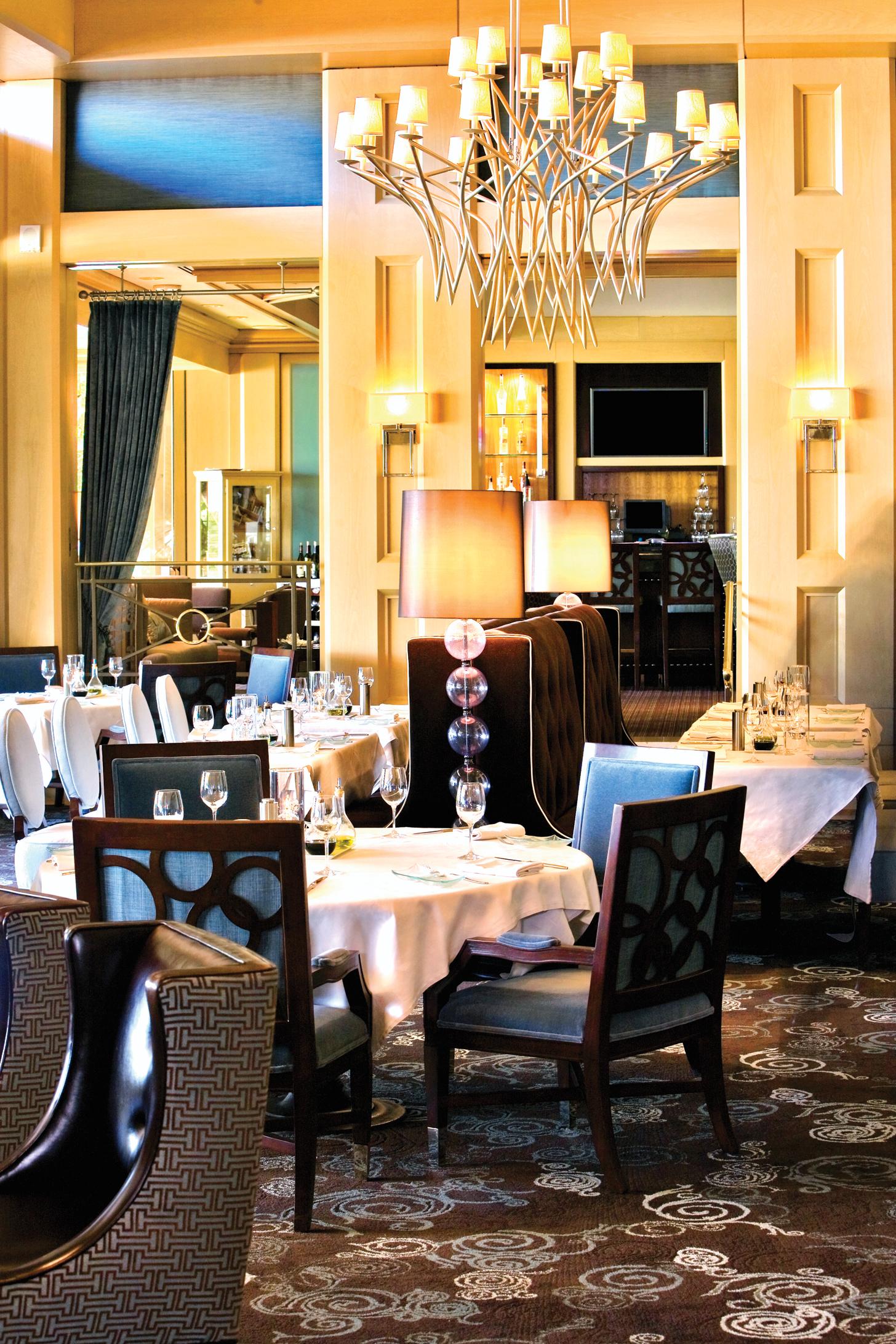 Detalhe do restaurante Il Terrazzo, de especialidade italiana