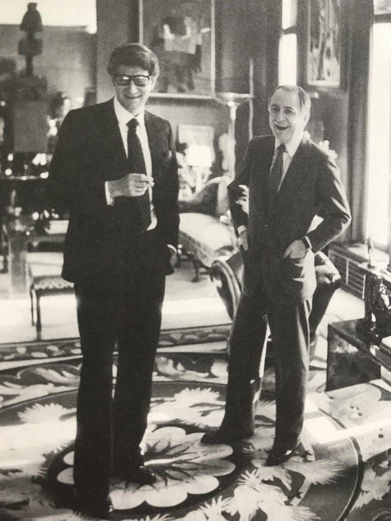 Yves Saint Laurent e Pierre Bergé, em uma foto do livro Letters to Yves