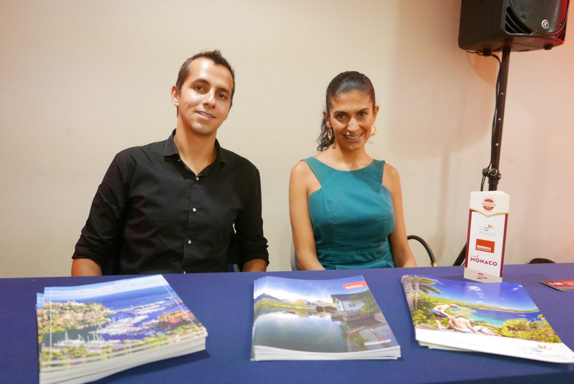 Vinicius Pereira e Juliana Khouri, da GVA, apresentaram todo o exotismo de Seychelles, Noruega e