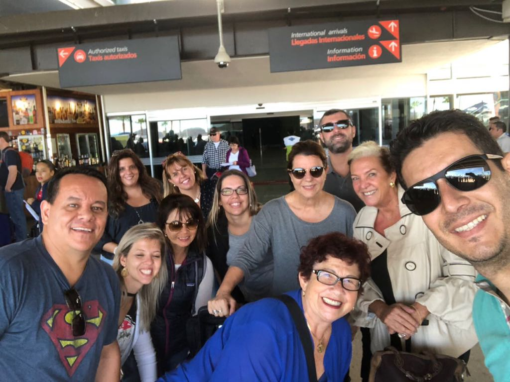 Momento selfie durante viagem a Los Cabos