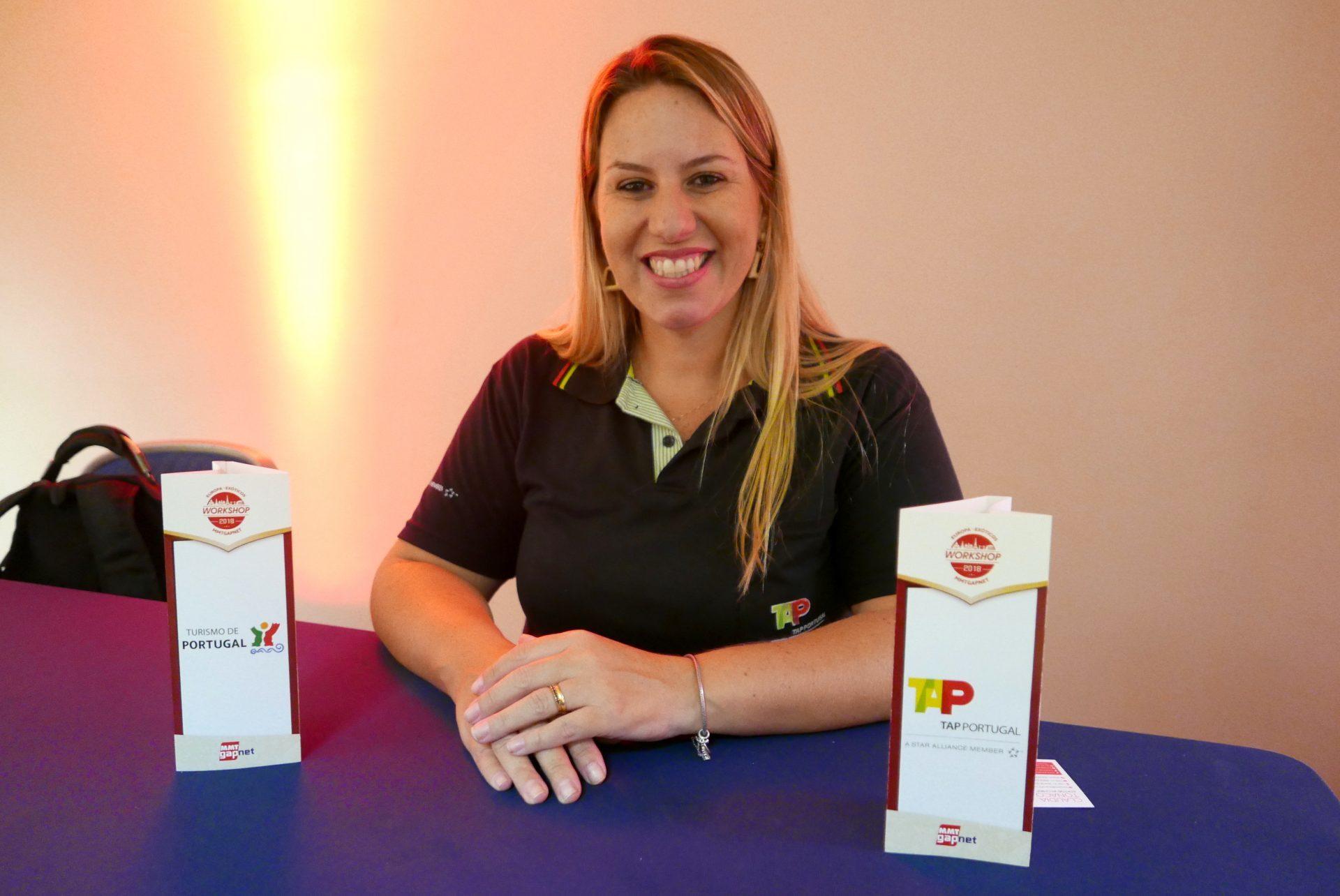 Adriana Tolentino, da TAP, preparada para contar todas as novidades da companhia aérea