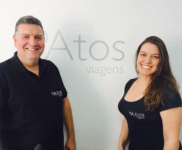 Anderson Silva e Michelle Moraes, sócios diretores da Atos Viagens (Foto: Divulgação)