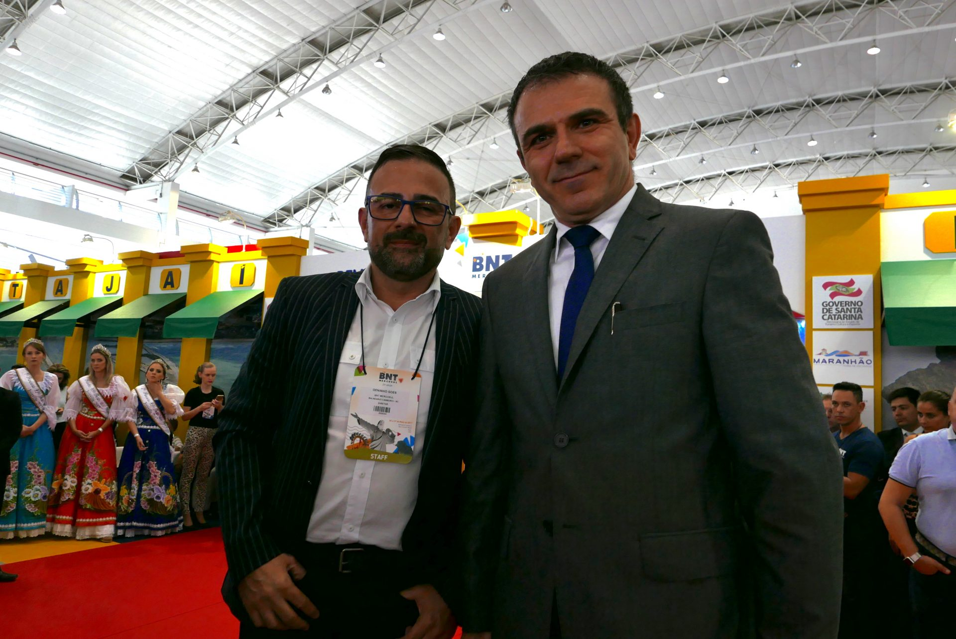 Geninho Goes e Jair Pasquini, da BNT Mercosul