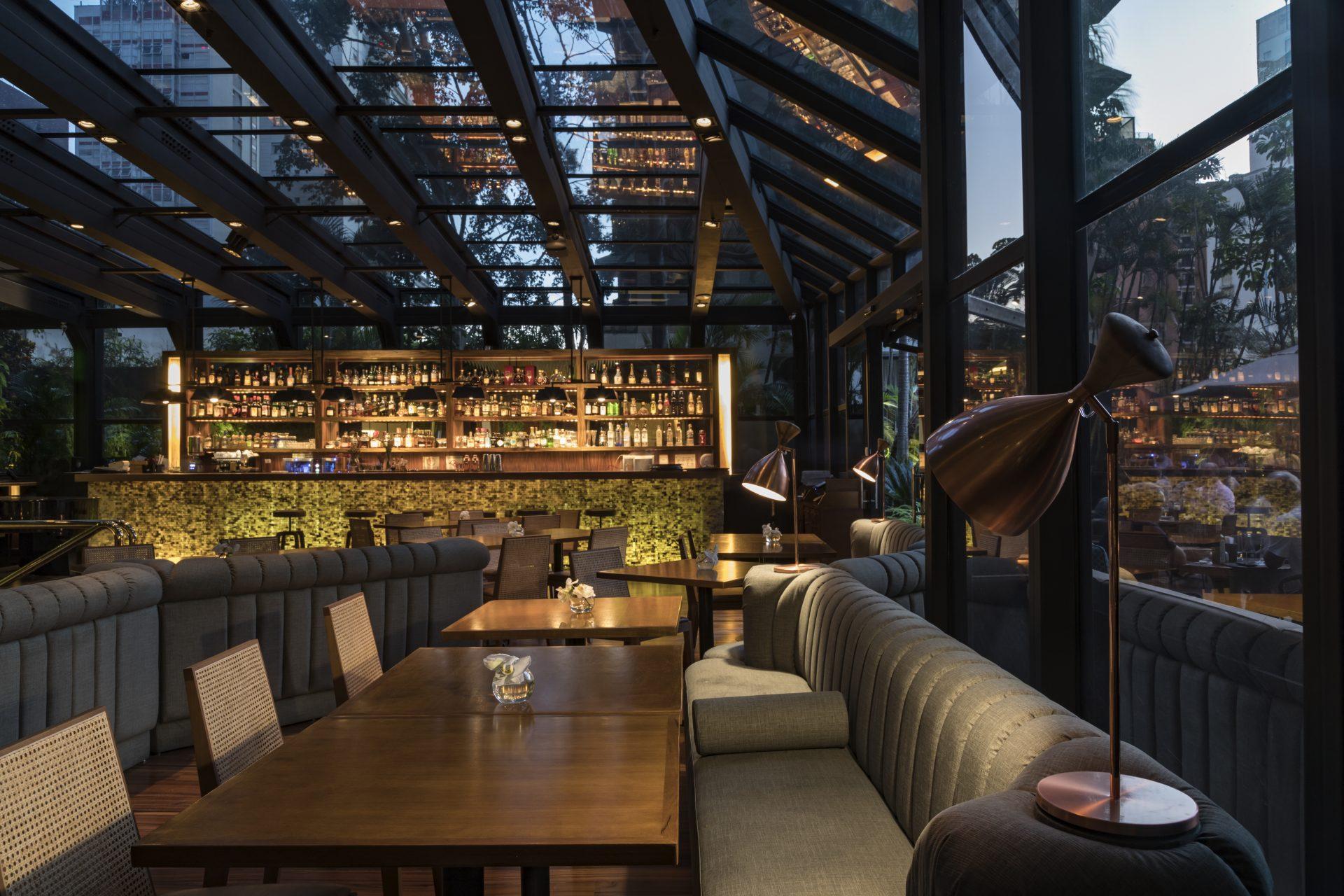 Detalhe da nova decoração do Bar Must, do Tivoli Mofarrej São Paulo