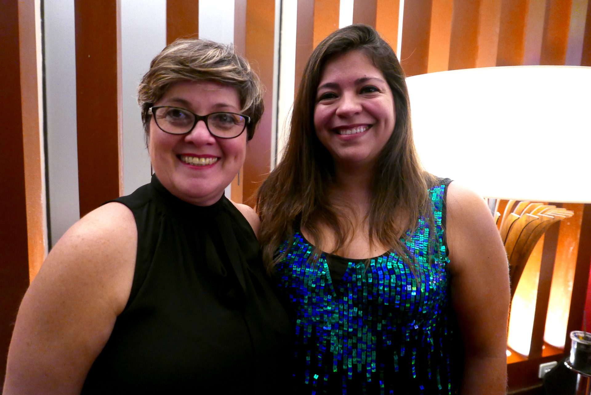 Nadia Kardouss, representante Brasil, e Alejandra Ayala, gerente comercial da Amaszonas del Paraguay
