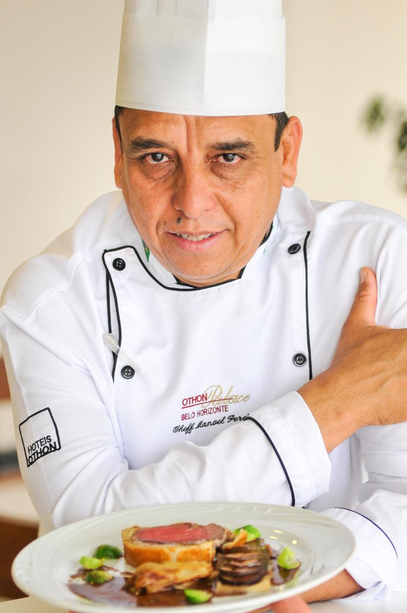 O Chef Manoel Pereira comanda o almoço para o Dia das Mães, no Belo Horizonte Othon Palace