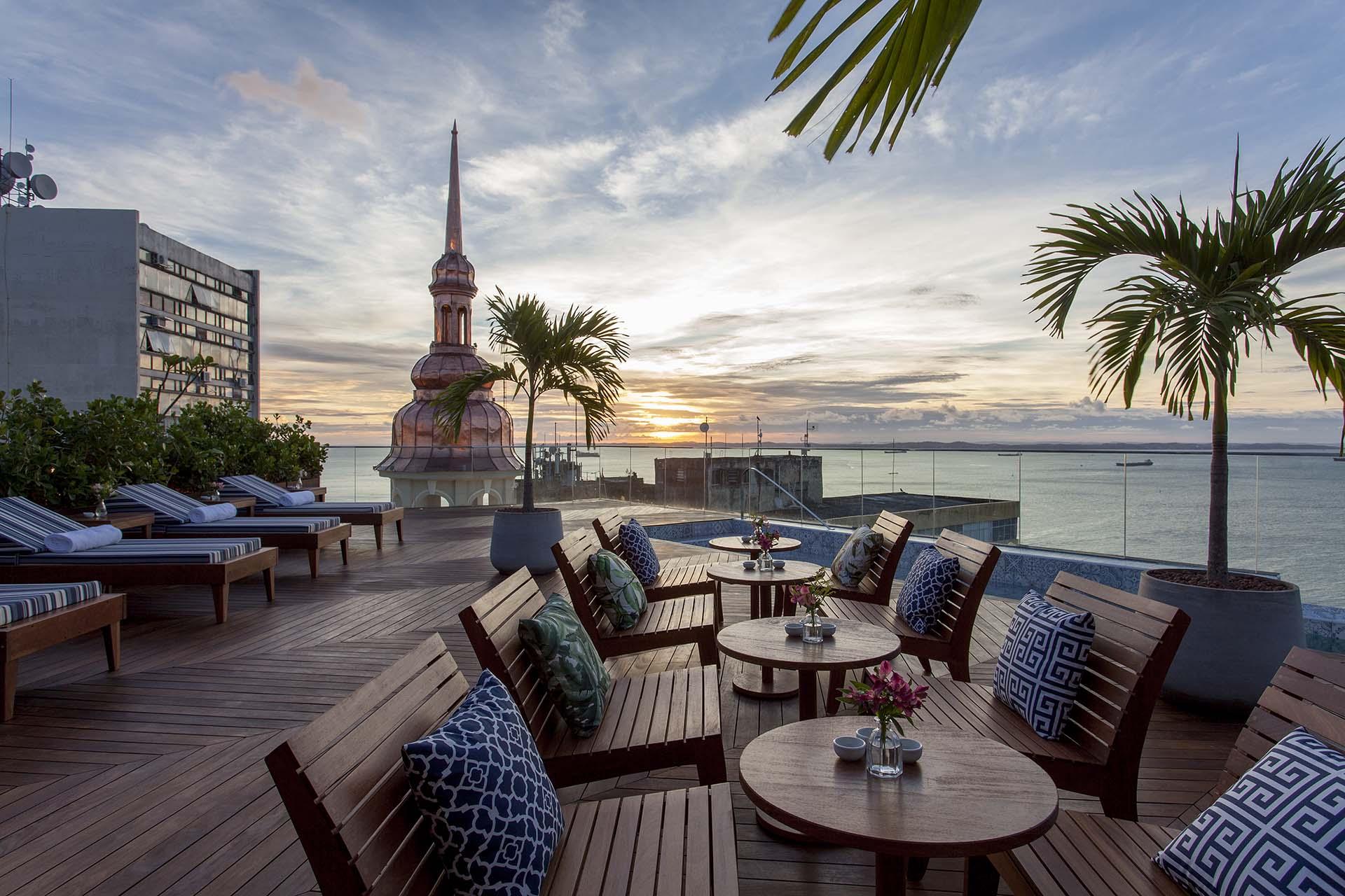 Cenário do hotel boutique Fera Palace, que está localizado no Centro Histórico de Salvador, na Bahia