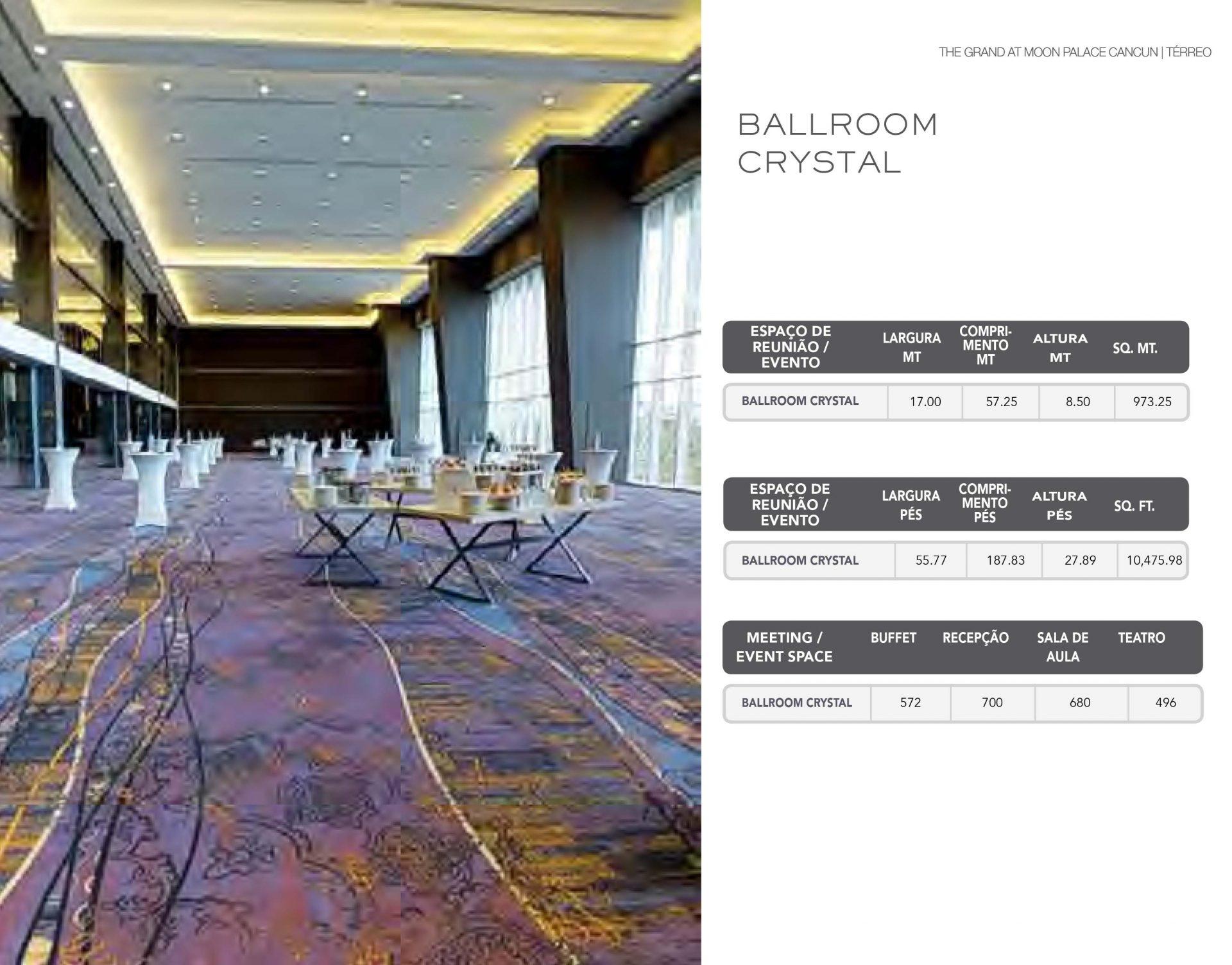 Informações técnicas do Ballroom Crystal