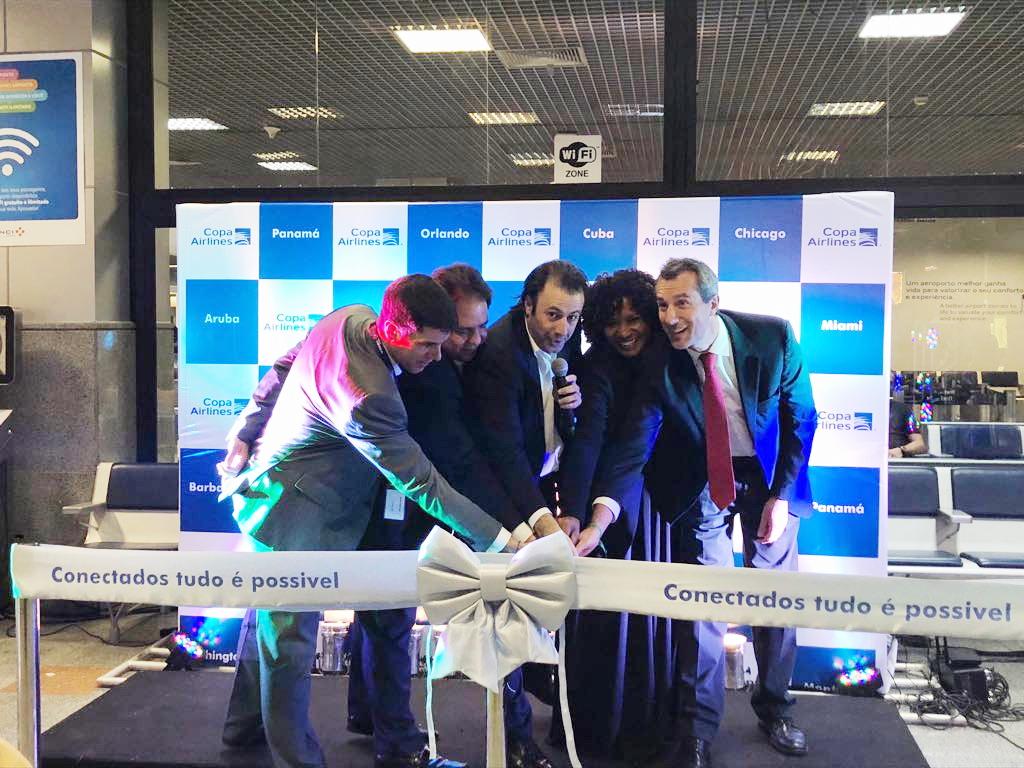 Emerson Sanglard e Pedro Heilbron, ao lado de parceiros e convidados, conectam oficialmente Salvador ao Hub das Américas da Copa Airlines