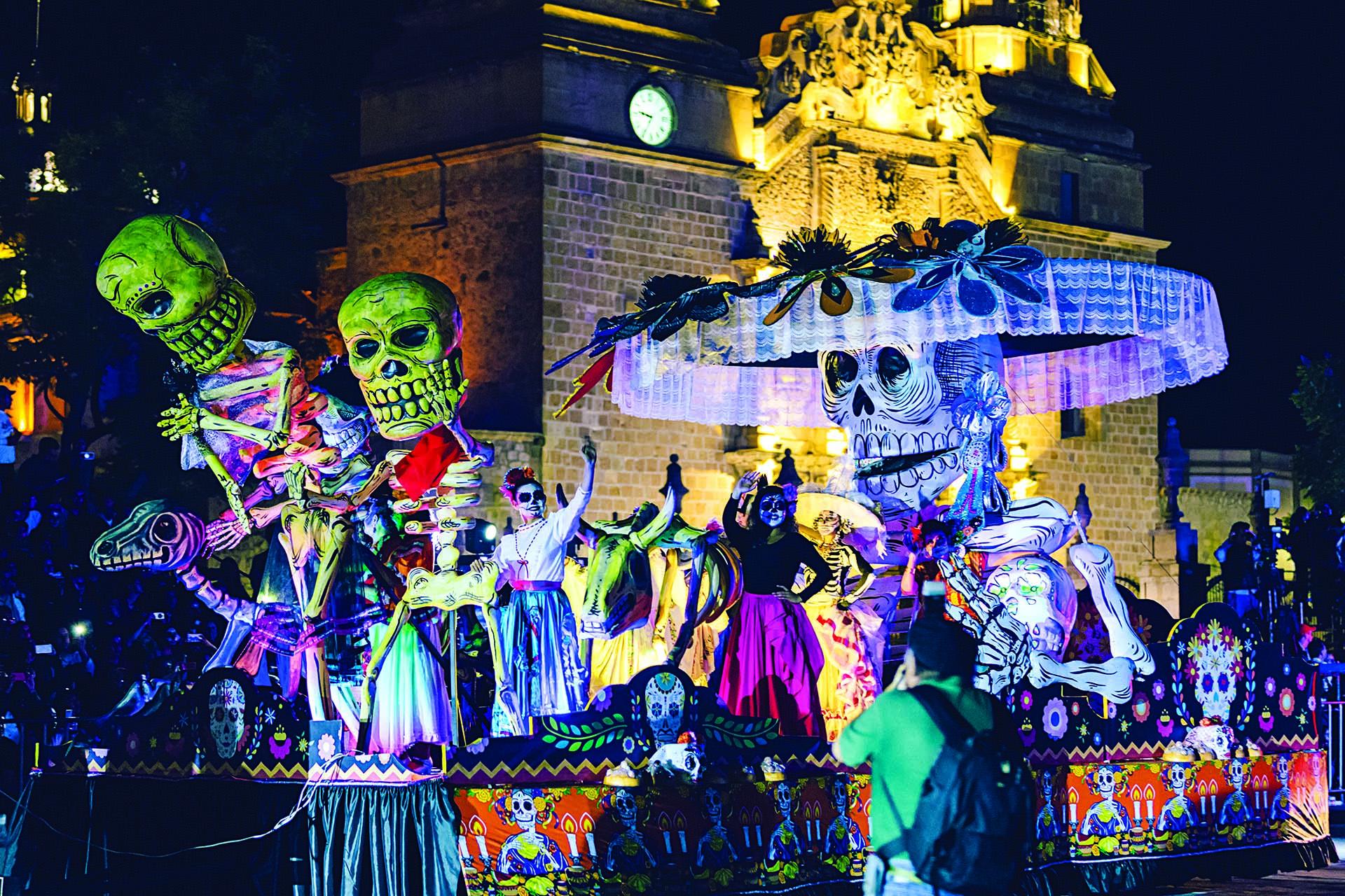 O desfile do Dia dos Mortos em Aguascalientes México