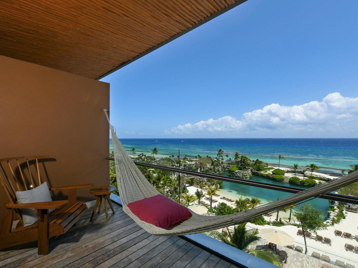 Apartamento com vista para o mar do Caribe (Foto: Hotel Xcaret - Divulgação)