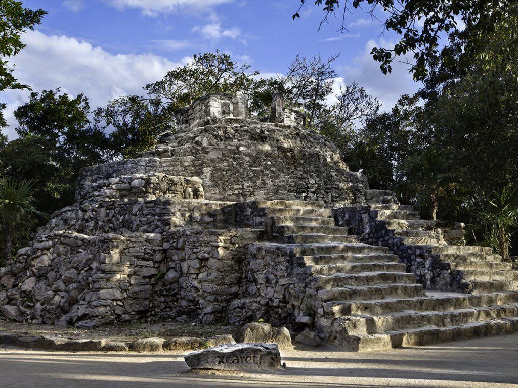Construção Maya no Parque Xcaret (Foto: Xcaret - Divulgação)