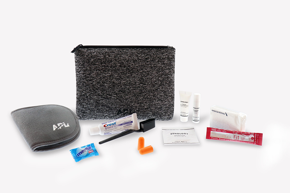 American Airlines Kit para 1ª Classe + Executiva dos voos transcontinentais