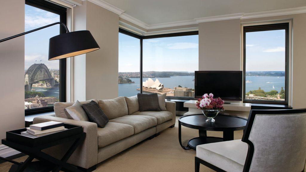 Um dos ambientes da Suíte Presidencial do Four Seasons Hotel Sidney