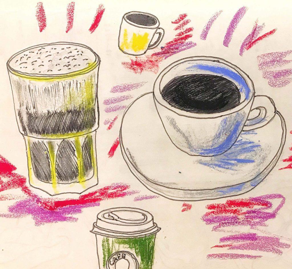 Cafés desenho Claudia Tonaco
