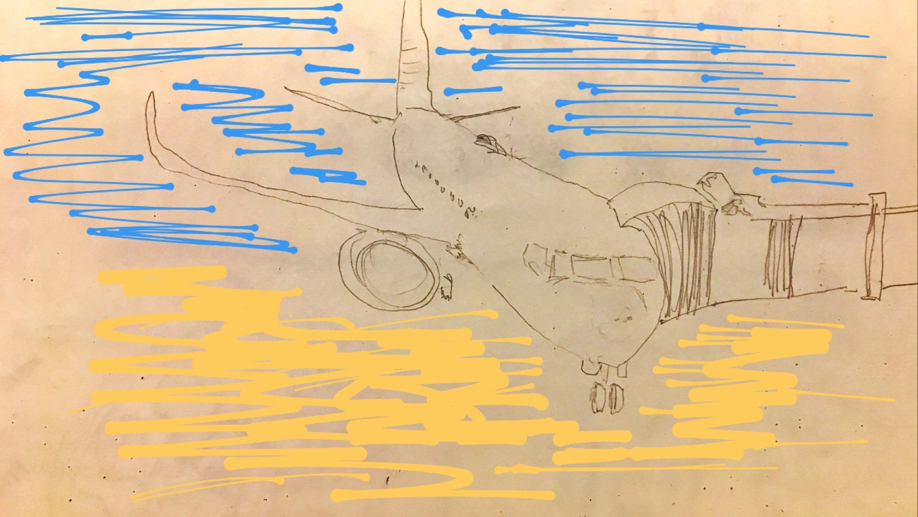 Desenho Claudia Tonaco Avião