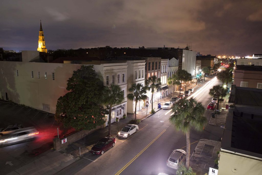 Nighttime in Downtown Charleston