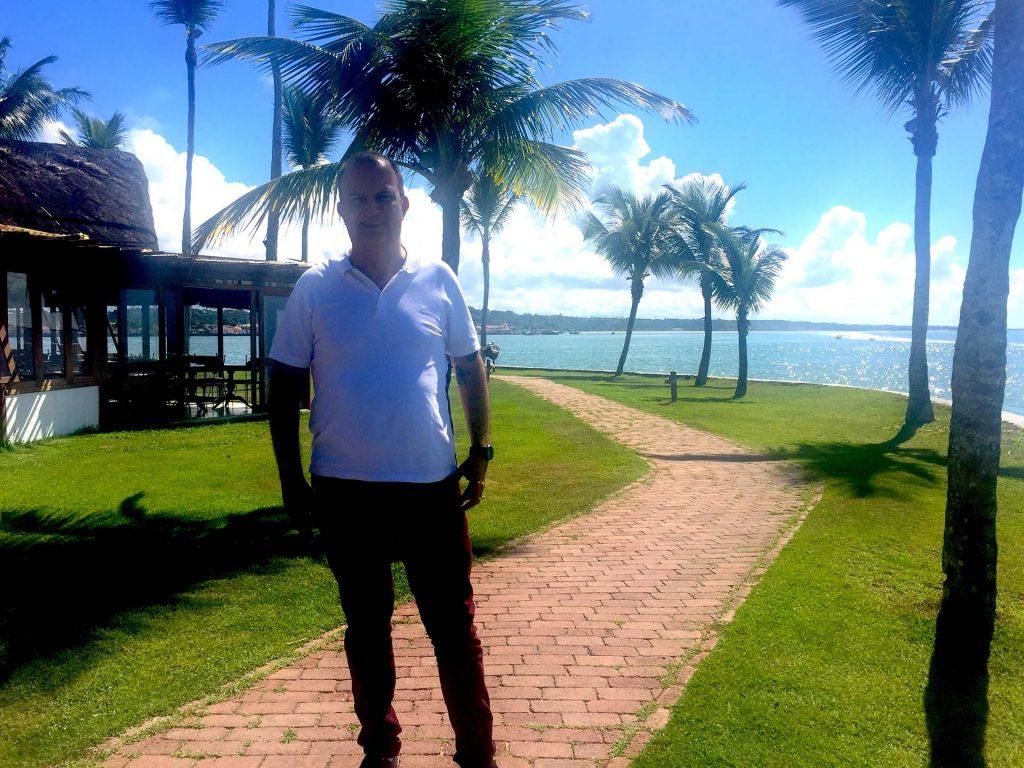 André Rossi, no Arraial d'Ajuda Eco Resort (Fotos: Divulgação)
