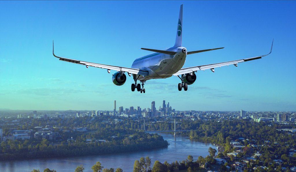 Avião aterrissando