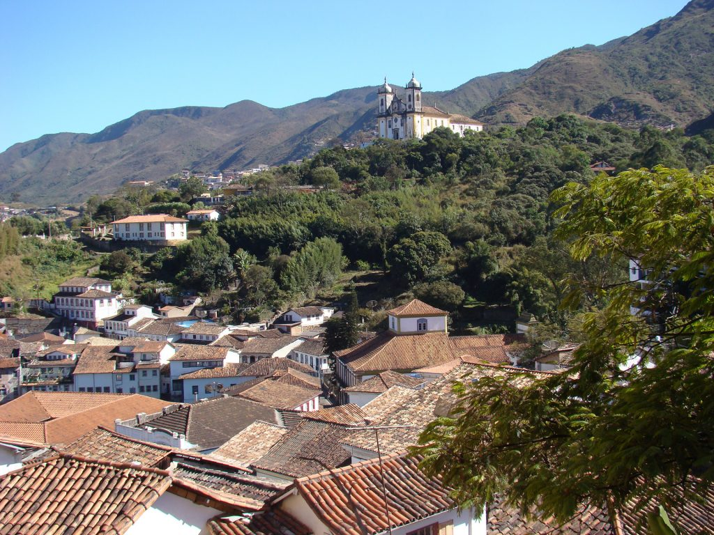 Vista do casario de Ouro Preto