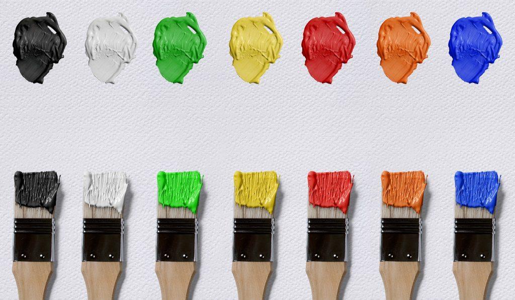 pincel pincéis cores colorido