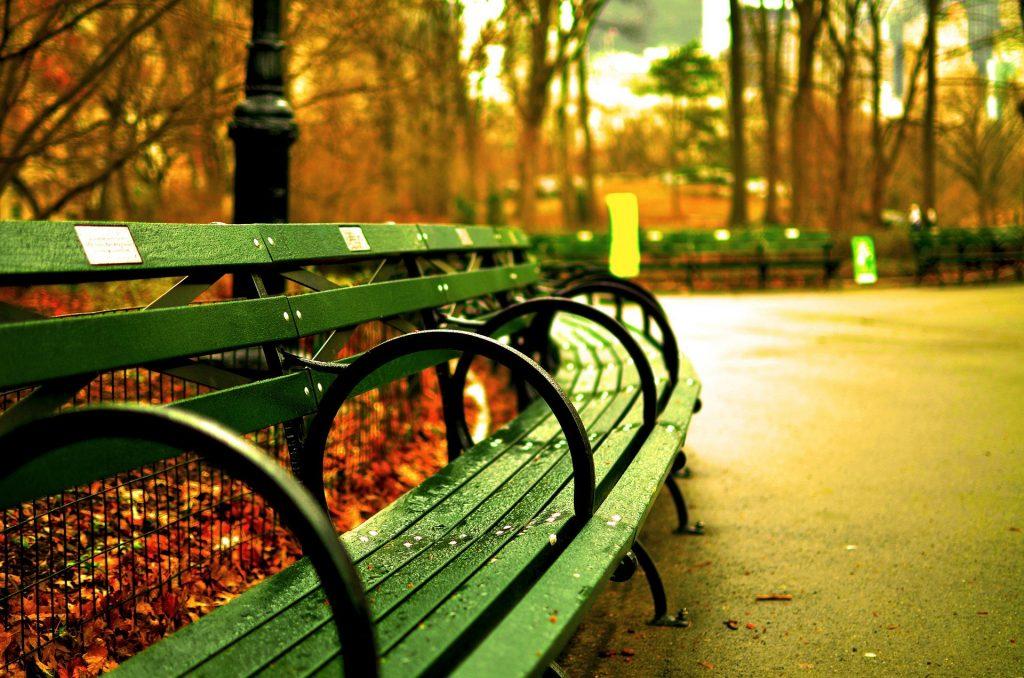 bancos do Central Park New York Nova York EUA