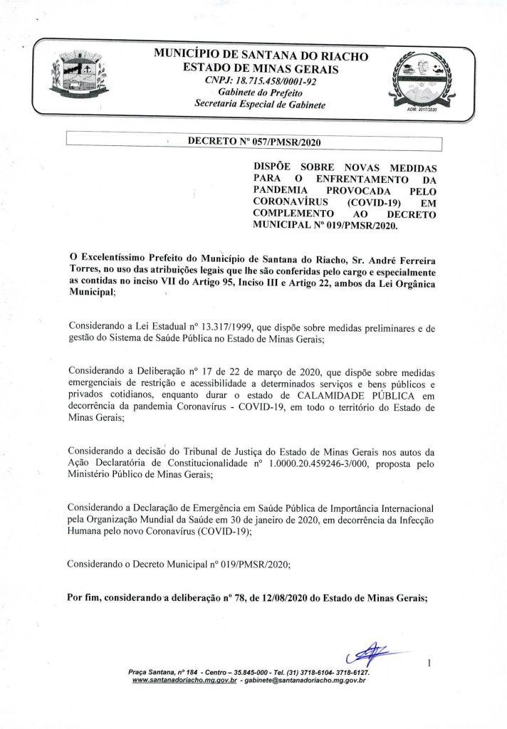 Decreto Reabertura Serra do Cipo Pagina 1