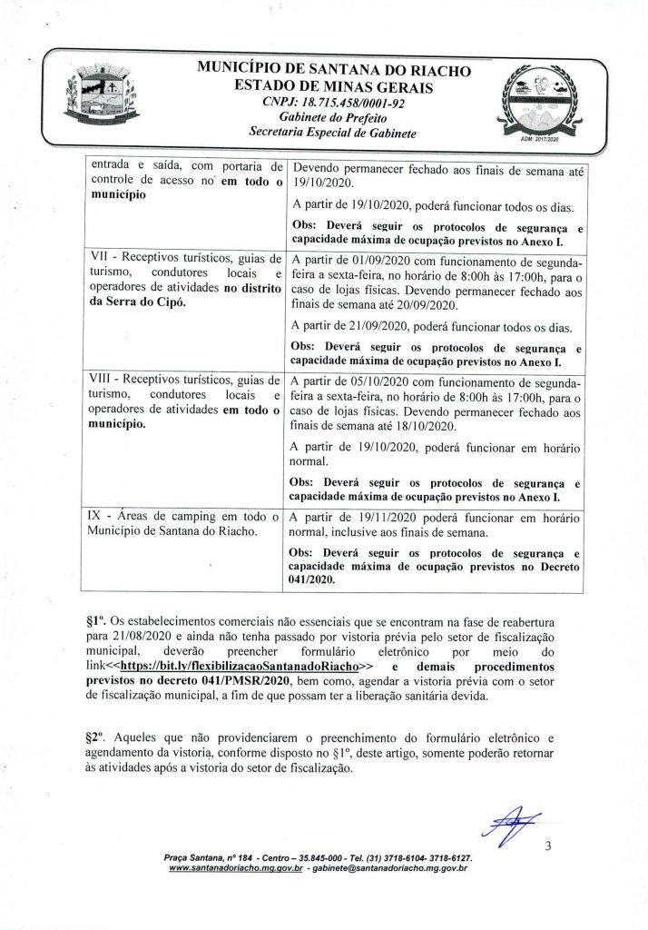 Decreto Reabertura Serra do Cipo Pagina 3